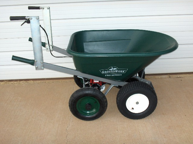 Motorized Wheelbarrow Solid Axle 8 Cubic Feet Under Tub