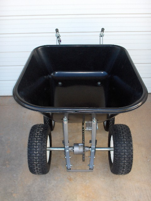 Motorized Wheelbarrow 10 CF Honda GX35 Four Cycle Engine with Differential with Turf Tires