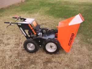 Muck truck 550 lb dumper honda 5 5 hp 3 speed reverse for Motorized wheelbarrows for sale