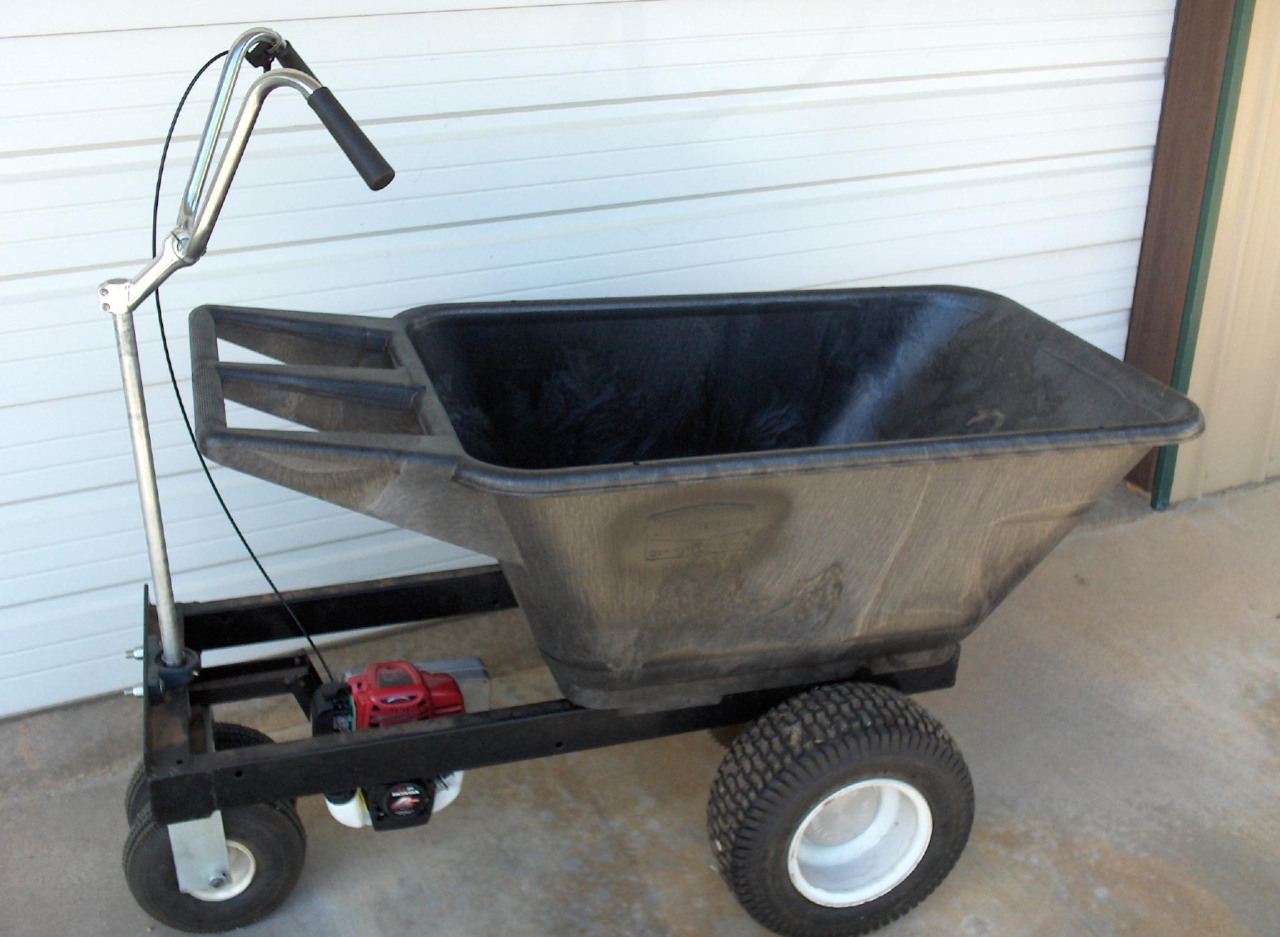 7 5 cubic foot motorized wheelbarrow honda gx35 staton inc for Motorized wheelbarrows for sale