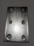 "Six Hole Sprocket Idler Bracket - Two 3/8"" Holes"